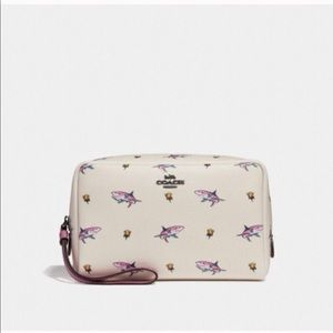 Coach Sharky Shark & Rose Cosmetic Bag